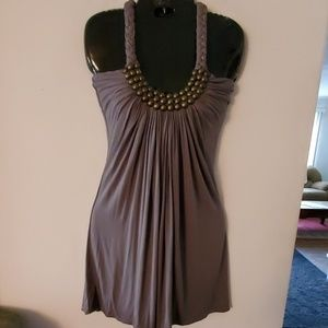Sky Grey Halter Top Dress - S